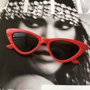 Accessories - Red cat eye sunglasses